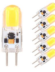 Недорогие -6шт 2W 350-380lm G4 GY6.35 Двухштырьковые LED лампы 1 Светодиодные бусины COB Диммируемая Тёплый белый Холодный белый 12V