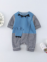 cheap -Baby Unisex Daily Color Block One-Pieces, Cotton Spring Summer Cute Active Half Sleeves Light Blue