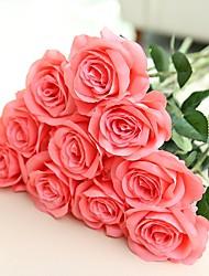 Недорогие -Искусственные Цветы 2 Филиал Европейский стиль / Пастораль Стиль Розы Букеты на стол