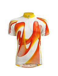 Недорогие -Jaggad Муж. С короткими рукавами Велокофты - Желтый Велоспорт Джерси, Дышащий / Эластичная