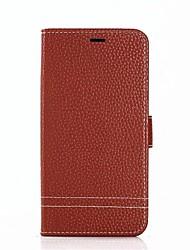 abordables -Coque Pour Xiaomi Redmi Note 4X Redmi 5A Porte Carte Avec Support Coque Intégrale Couleur unie Dur Cuir véritable pour Redmi Note 5A