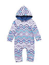 cheap -Baby Unisex Daily Going out Solid Print Jacquard One-Pieces, Cotton Spring Summer Cute Active Short Sleeve Light Blue