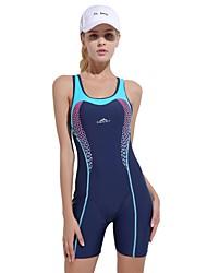 baratos -Mulheres roupa de banho Confortável, Esportes Fibra Sintética / Elastano Sem Manga Roupa de Praia Roupa de Banho Natação
