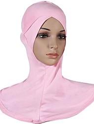 Недорогие -Жен. Классический Хиджаб Хлопок, Однотонный