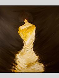 Недорогие -Hang-роспись маслом Ручная роспись - Люди Modern холст