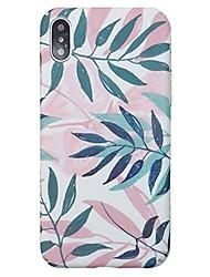 Недорогие -Кейс для Назначение Apple iPhone X / iPhone 8 Pluss / iPhone 8 Ультратонкий Кейс на заднюю панель Растения / дерево Твердый ПК