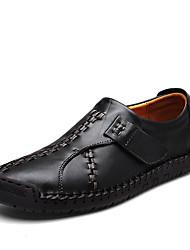 preiswerte -Herrn Schuhe Lackleder Winter Springerstiefel Stiefel Mittelhohe Stiefel für Normal Schwarz Gelbbraun Rot + braun