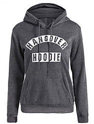 cheap -Women's Long Sleeves Hoodie - Letter