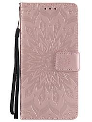abordables -Coque Pour Huawei P8 Lite (2017) P10 Plus Porte Carte Portefeuille Avec Support Clapet Motif Coque Intégrale Mandala Dur faux cuir pour