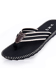 cheap -Men's Shoes Fabric Spring Summer Comfort Slippers & Flip-Flops for Casual Black Gray Brown