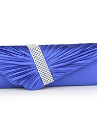 cheap -Women's Bags Polyester Wristlet Crystals Blue / White / Silver