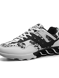 cheap -Men's Shoes PU Spring Fall Comfort Athletic Shoes Running Shoes White Black Red
