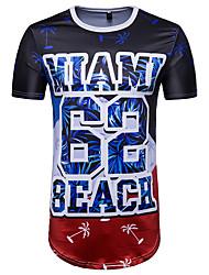 economico -t-shirt da uomo casual street chic primavera estate girocollo a maniche corte in poliestere
