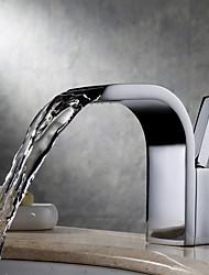 abordables -Moderne Montage Jet pluie Séparé Soupape céramique Mitigeur un trou Chrome, Robinet lavabo