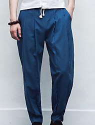 abordables -Hombre Deportivo Chinos Pantalones - Un Color
