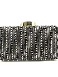 cheap -Women's Bags PU Evening Bag Beading for Event/Party Outdoor All Seasons Black Grey