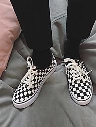 Недорогие -Муж. Полотно Весна / Осень Удобная обувь Кеды Контрастных цветов Черно-белый