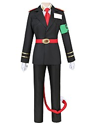 cheap -Inspired by The Numbers Other Anime Cosplay Costumes Cosplay Suits Other Long Sleeves Coat Shirt Pants Gloves Belt More Accessories Tie