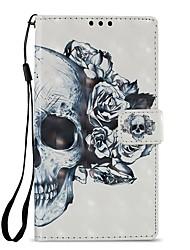 Недорогие -Кейс для Назначение Sony Xperia XZ1 Xperia L2 Бумажник для карт Кошелек со стендом Флип Магнитный Чехол Черепа Твердый Кожа PU для Xperia