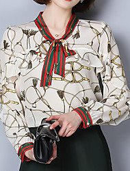 cheap -Women's Going out Cute Blouse - Print, Classic Style Modern Style