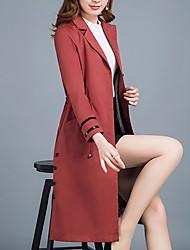 Dame Ensfarvet Vintage Frakke