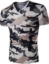 abordables -Tee-shirt Homme, camouflage simple Col en V