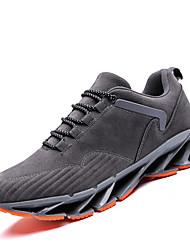 abordables -Homme Chaussures Polyuréthane Printemps / Automne Confort Chaussures d'Athlétisme Course à Pied Noir / Gris