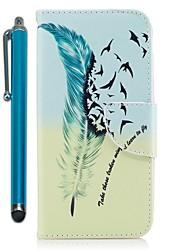 abordables -Funda Para Huawei Mate 10 lite Mate 10 Soporte de Coche Cartera con Soporte Flip Magnética Funda de Cuerpo Entero Plumas Dura Cuero de PU