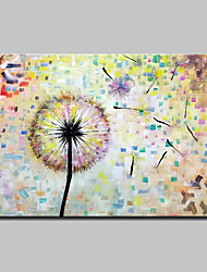cheap -Oil Painting Hand Painted - Pop Art Floral / Botanical Modern Canvas