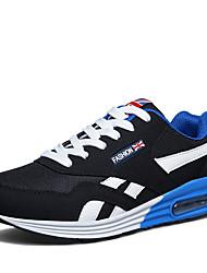 baratos -Homens sapatos Cashmere Primavera Outono Conforto Tênis para Casual Preto Vermelho Azul