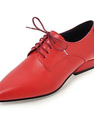 Недорогие -Жен. Обувь Искусственное волокно Весна Осень Оригинальная обувь Удобная обувь На плокой подошве На низком каблуке Заостренный носок