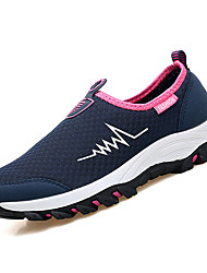 cheap -Women's Shoes Breathable Mesh Spring Fall Comfort Athletic Shoes Walking Shoes Flat Heel Round Toe for Athletic Dark Blue Gray Red