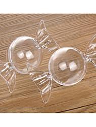 baratos -Circular Cilindro Material Plástico Suportes para Lembrancinhas com Pontos Outros Acessórios Casamento Frasco de Doce Boticário