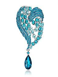 abordables -Femme Broche - Cœur Mode Broche Blanc / Rose Pailleté / Bleu Pour Soirée / Cadeau