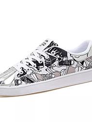 abordables -Homme Chaussures Toile Printemps Automne Confort Basket pour Décontracté Noir/blanc Blanc et Violet Blanc/Jaune