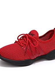 cheap -Women's Dance Sneakers Breathable Mesh Sneaker Low Heel Customizable Dance Shoes White / Black / Red