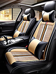 cheap -Car Seat Covers Headrests Waist Cushions Seat Covers Textile PU Leather For universal All years All Models