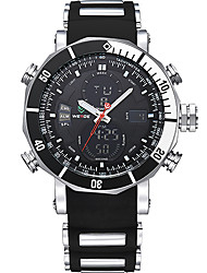 cheap -WEIDE Men's Digital Dress Watch Sport Watch Alarm Chronograph Water Resistant / Water Proof Dual Time Zones LCD Silicone Band Luxury Cool