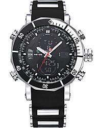 Недорогие -WEIDE Муж. Нарядные часы Спортивные часы Цифровой Будильник Секундомер Защита от влаги С двумя часовыми поясами ЖК экран силиконовый