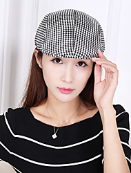 cheap -Unisex Work Casual Cotton Beret Hat Floppy Hat Sun Hat Baseball Cap - Solid Colored Check