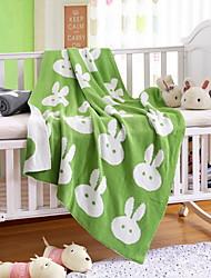 Недорогие -Трикотаж, Активный краситель Геометрический принт / Мультипликация Хлопок одеяла