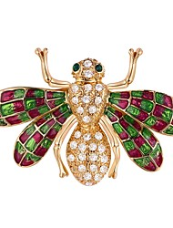cheap -Women's Brooches - Bee Cartoon Brooch Silver / Golden For Masquerade / Prom