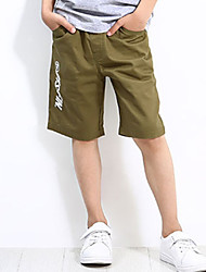 cheap -Boys' Daily Holiday Print Shorts, Cotton Polyester Spandex Summer Simple Active Army Green