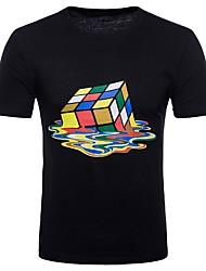 cheap -Men's Club Punk & Gothic Street chic Cotton T-shirt Round Neck