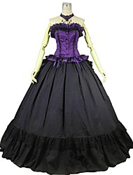 abordables -Victorien Rococo Costume Femme Adulte Tenue Violet Vintage Cosplay 50% Coton/ 50% Polyester Sans Manches Accueil froid