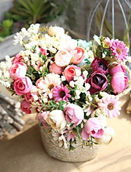 cheap -Artificial Flowers 1 Branch Pastoral Style / Wedding Flowers Roses Tabletop Flower