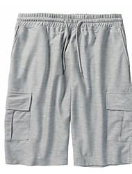 economico -Per uomo Cotone Pantaloncini Pantaloni - Tinta unita