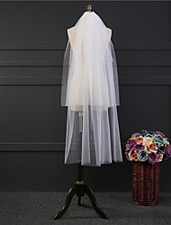 cheap -Two-tier Classic Wedding Veil Elbow Veils 53 Fringe Tulle