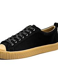 男性用 靴 スエード 春 秋 コンフォートシューズ スニーカー のために カジュアル ブラック ブルー カーキ色