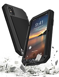 Capinha Para Apple iPhone X Antichoque Impermeável Capa Proteção Completa Armadura Rígida Metal para iPhone X iPhone 8 Plus iPhone 8